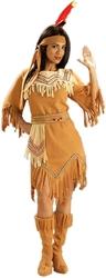 AMERINDIEN -  COSTUME DE JEUNE FEMME AMERINDIENNE (ADULTE - TAILLE UNIQUE)