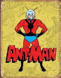 ANT MAN -  AFFICHE MÉTALLIQUE