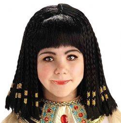 ANTIQUITÉ -  PERRUQUE REINE DU NIL, NOIRE (ENFANT) -  ÉGYPTE