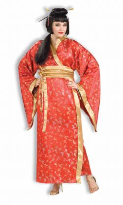 ASIATIQUES -  COSTUME DE MADAME BUTTERFLY (ADULTE - TRÈS TRÈS GRAND 18-22)