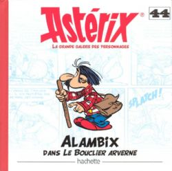 ASTÉRIX -  STATUETTE EN RESINE DE ALAMBIX (12 CM) AVEC LIVRE 44 -  LA GRANDE GALERIE DES PERSONNAGES
