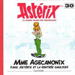 ASTÉRIX -  STATUETTE EN RESINE DE MME AGECANONIX (15 CM) AVEC LIVRE 30 -  LA GRANDE GALERIE DES PERSONNAGES