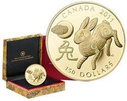 ASTROLOGIE CHINOISE -  ANNÉE DU LAPIN -  PIÈCES DU CANADA 2011 02