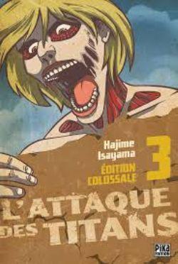 ATTAQUE DES TITANS, L' -  MANGA USAGÉ TOME 03 ÉDITION COLOSSALE