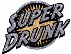 AUTOCOLLANTS POUR VÊTEMENTS -  AUTOCOLLANT PAR TRANSFERT DE CHALEUR - SUPER DRUNK