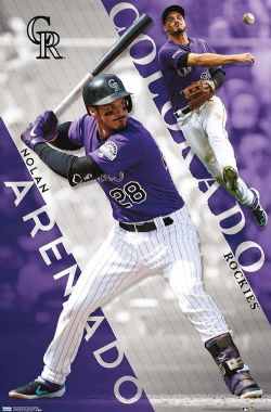 BASEBALL -  AFFICHE (56 CM X 86.5 CM) -  ROCKIES DU COLORADO