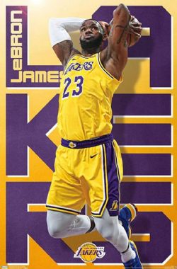 BASKETBALL -  LEBRON JAMES - AFFICHE (56 X 86.5 CM) -  LAKERS DE LOS ANGELES