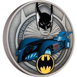BATMAN -  BATMOBILE : BATMOBILE DE 1997 -  PIÈCES DE LA NEW ZEALAND MINT (NOUVELLE-ZÉLANDE) 2021 03