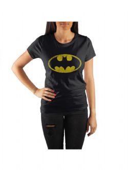 BATMAN -  T-SHIRT LOGO - NOIR (FEMME)