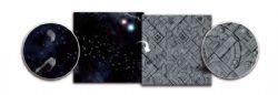 BATTLEFIELD IN A BOX -  ASTEROID FIELD / SPACE STATION SURFACE DE JEU DOUBLE (3'X3')