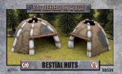 BATTLEFIELD IN A BOX -  BESTIAL HUTS