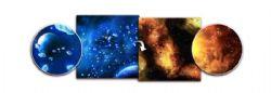 BATTLEFIELD IN A BOX -  PLANET / FIERY NEBULA SURFACE DE JEU DOUBLE (3'X3')