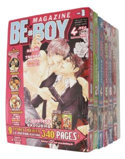BE X BOY MAGAZINE -  MANGAS USAGÉS TOME 04 À 06 + COLLECTION SHONEN 08