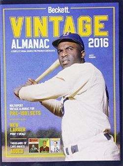 BECKETT BASEBALL CARDS -  VINTAGE ALMANAC PRICE GUIDE 2016 - 1ST EDITION