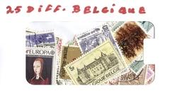 BELGIQUE -  25 DIFFÉRENTS TIMBRES - BELGIQUE