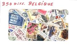BELGIQUE -  350 DIFFÉRENTS TIMBRES - BELGIQUE