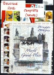 BELGIQUE -  ANNÉE COMPLÈTE 2012, TIMBRES NEUFS