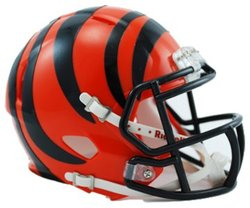 BENGALS DE CINCINNATI -  CASQUE ORANGE -  MINI RÉPLIQUE