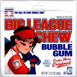 BIG LEAGUE CHEW -  GOMME BALLOUNE ORIGINAL - POCHETTE FILLE