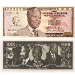 BILLETS HUMORISTIQUES -  NELSON MANDELA - BILLET D'UN MILLION DE DOLLARS DES ETATS-UNIS
