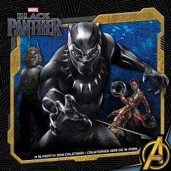 BLACK PANTHER -  CALENDRIER MURAL 2019 - (16 MOIS)