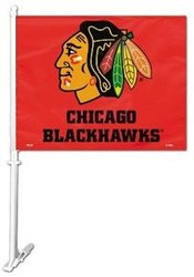 BLACKHAWKS DE CHICAGO -  DRAPEAU DE VOITURE