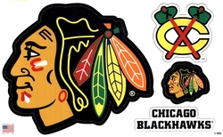 BLACKHAWKS DE CHICAGO -  ENSEMBLE D'AIMANTS