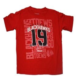 BLACKHAWKS DE CHICAGO -  T-SHIRT JONATHAN TOEWS #19 ROUGE (ENFANT)