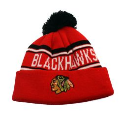 BLACKHAWKS DE CHICAGO -  TUQUE À POMPOM