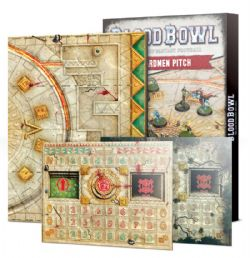 BLOOD BOWL -  DOUBLE-SIDED LIZARDMEN PITCH AND DUGOUT SET