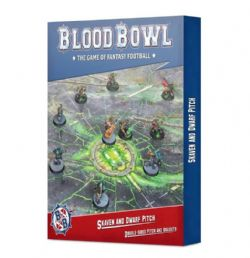 BLOOD BOWL -  DOUBLE-SIDED SKAVEN & DWARF PITCH AND DUGOUT SET