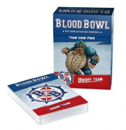 BLOOD BOWL -  TEAM CARD PACK - DWARF TEAM (ANGLAIS)