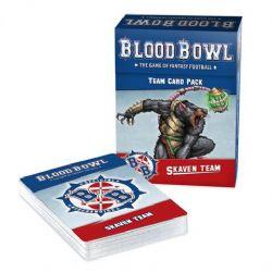 BLOOD BOWL -  TEAM CARD PACK - SKAVEN TEAM (ANGLAIS)