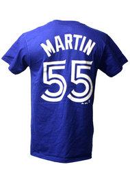 BLUE JAYS DE TORONTO -  T-SHIRT RUSSELL MARTIN #55 - BLEU