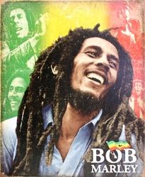 BOB MARLEY -  AFFICHE MÉTALLIQUE