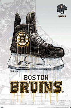 BOSTON-BRUINS POSTER (HOCKEY) -  NHL BOSTON BRUINS - DRIP SKATE 2020-POSTER (56 CM X 86.5 CM) -  BRUINS DE BOSTON