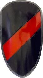 BOUCLIERS -  BOUCLIER PRET POUR BATAILLE - NOIR ET ROUGE (100 CM X 60 CM)