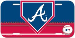 BRAVES D'ATLANTA -  PLAQUE D'IMMATRICULATION
