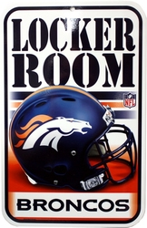 BRONCOS DE DENVER -  AFFICHE LOCKER ROOM