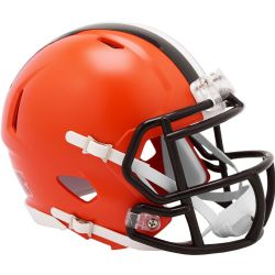 BROWNS DE CLEVELAND -  CASQUE ORANGE -  MINI RÉPLIQUE