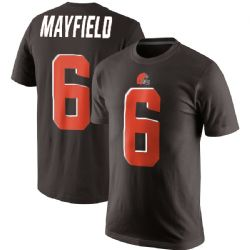 BROWNS DE CLEVELAND -  T-SHIRT DE BAKER MAYFIELD #06 - BRUN