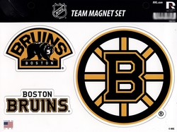 BRUINS DE BOSTON -  ENSEMBLE D'AIMANTS