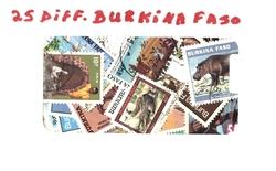 BURKINA FASO -  25 DIFFERENTS TIMBRES - BURKINA FASO