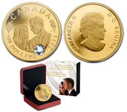 CÉLÉBRATION DU MARIAGE -  PRINCE WILLIAM ET MLLE CATHERINE MIDDLETON -  PIÈCES DU CANADA 2011