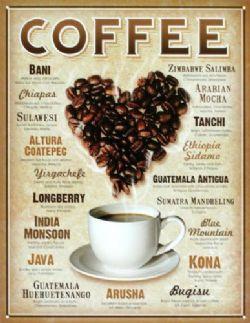 CAFÉ -  AFFICHE MÉTALLIQUE