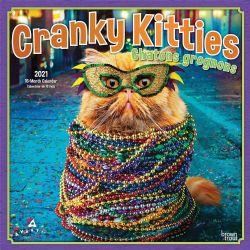 CALENDRIER 2021 -  16 MOIS -  CRANKY KITTIES