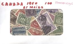 CANADA -  100 DIFFÉRENTS TIMBRES - CANADA : DE 1955 ET MOINS
