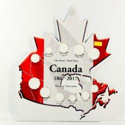 CANADA 150 -  CARTON POUR RANGER LES PIÈCES COMMÉMORATIVES DE 2017