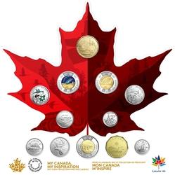 CANADA 150 -  COLLECTION DE 12 PIÈCES DE CIRCULATION -  PIÈCES DU CANADA 2017