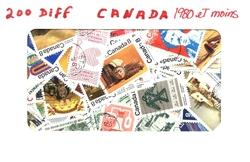 CANADA -  200 DIFFÉRENTS TIMBRES - CANADA - 1980 ET MOINS